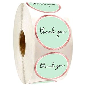 💌50 Mint and Gold Thank You Stickers {1 left!}